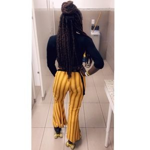 Forever 21 Mustard Yellow Flare Pants
